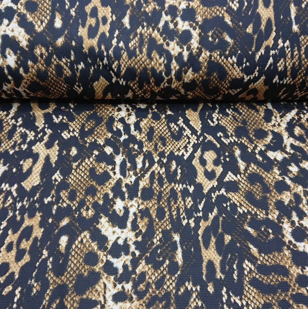 Animal Print Tricot Jersey - The Fabric Counter