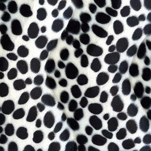 Animal Print Velboa - Dalmation - The Fabric Counter