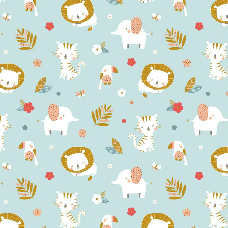 Baby Animals - Cotton Jersey - The Fabric Counter