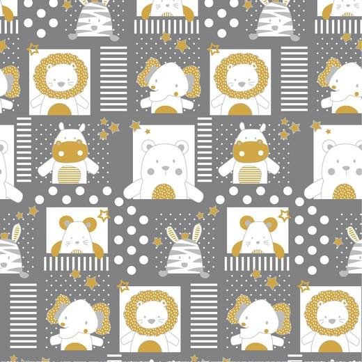 Baby Animals - Cotton Print - The Fabric Counter