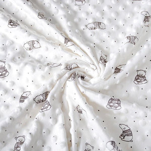 Baby Bear Minky - Creme - The Fabric Counter