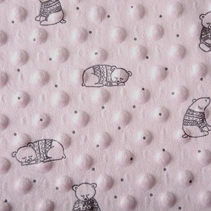 Baby Bear Minky - Pink - The Fabric Counter