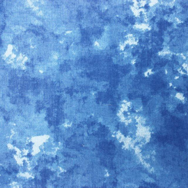 Batik - Mid Blue - The Fabric Counter
