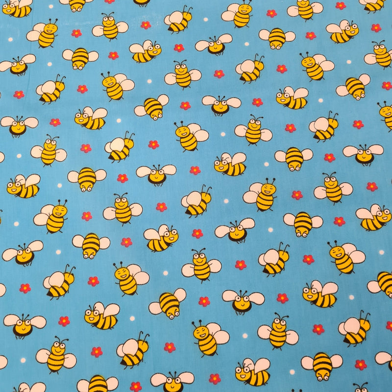 Bee Polycotton - The Fabric Counter