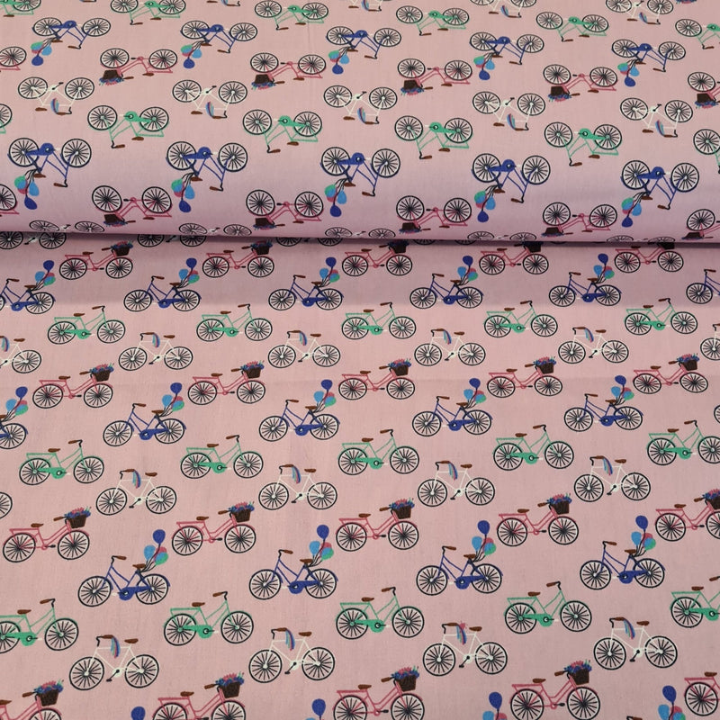Bicycle Cotton Print - The Fabric Counter