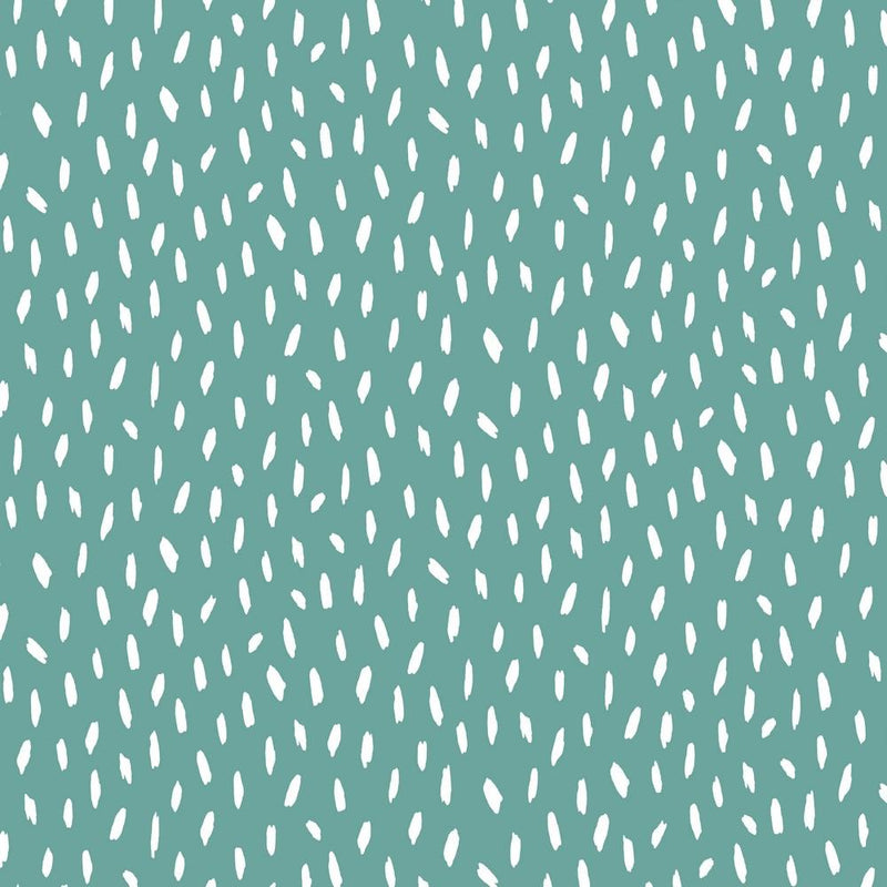 Brush Strokes - Cotton Print - Aqua - The Fabric Counter