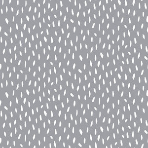 Brush Strokes - Cotton Print - Grey - The Fabric Counter