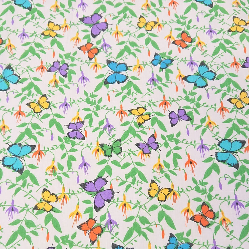 Butterfly Polycotton - The Fabric Counter