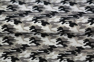 Camoflague 100% Cotton Print - Blue - The Fabric Counter