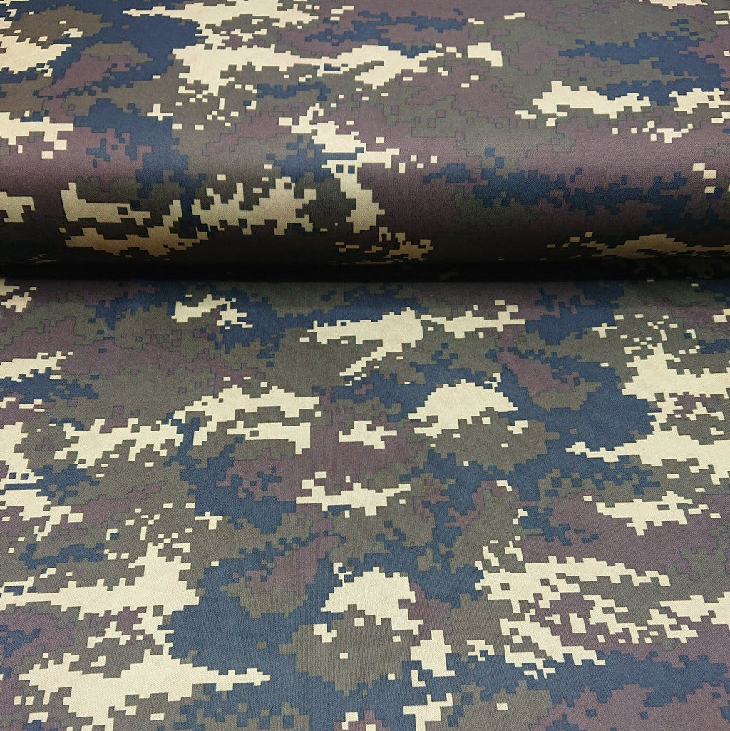 Camouflage Print Tricot Jersey - The Fabric Counter