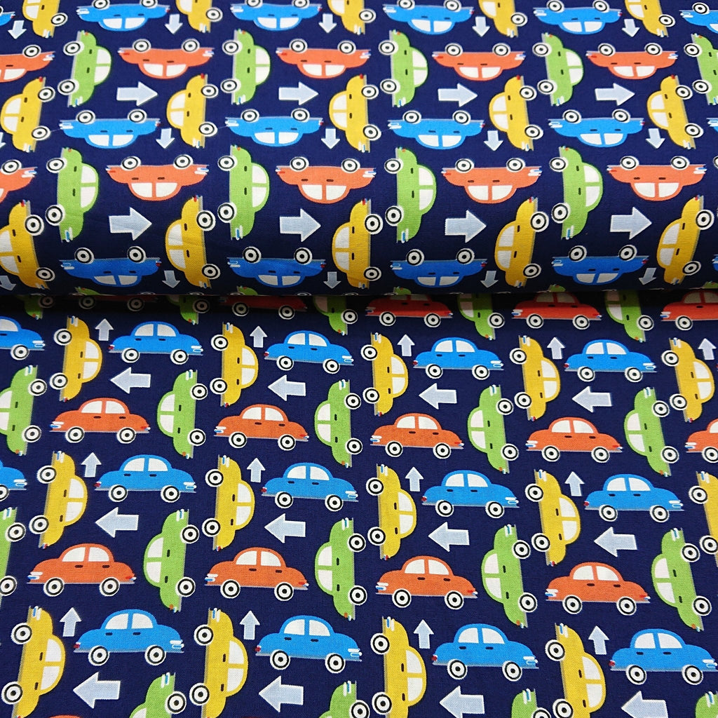 Cars Cotton Print - The Fabric Counter