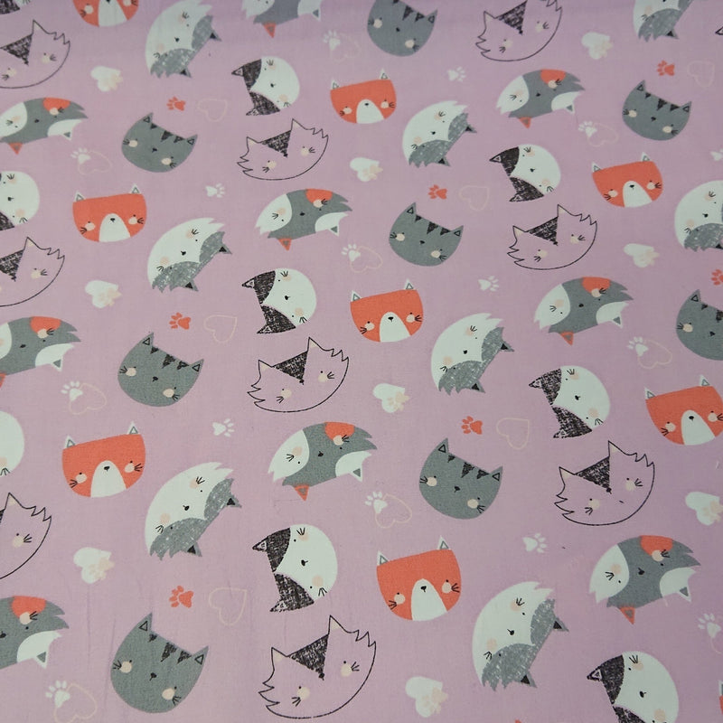 Cat Cotton Print - The Fabric Counter