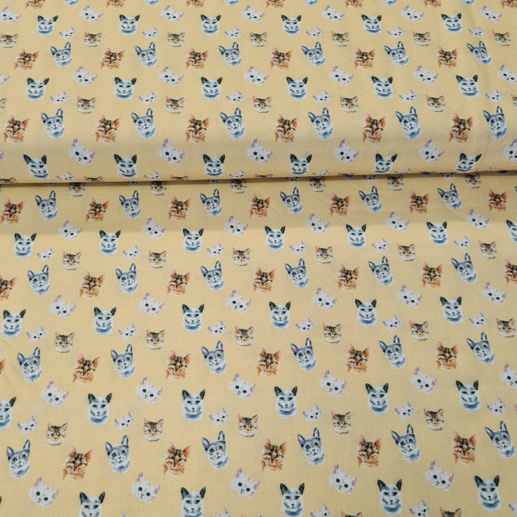 Cat Digital Cotton Print - The Fabric Counter
