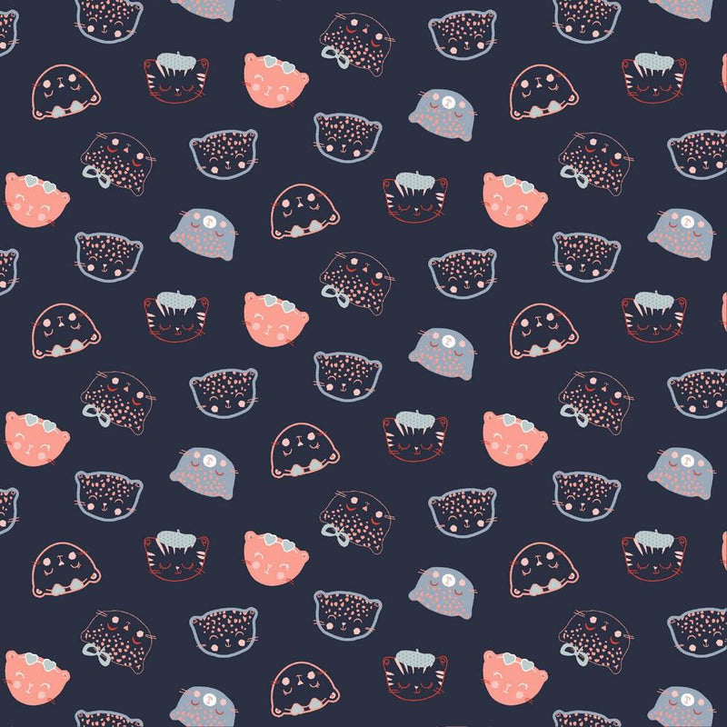 Chic Cats - Cotton Print - The Fabric Counter