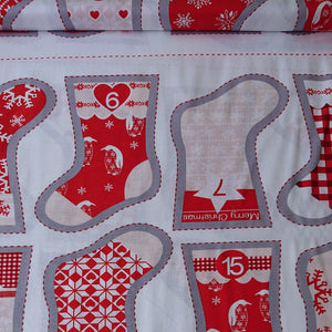 Christmas Stocking Advent Panel - The Fabric Counter