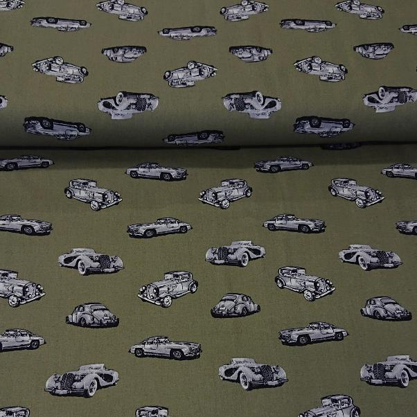 Classic Car Cotton Print - The Fabric Counter