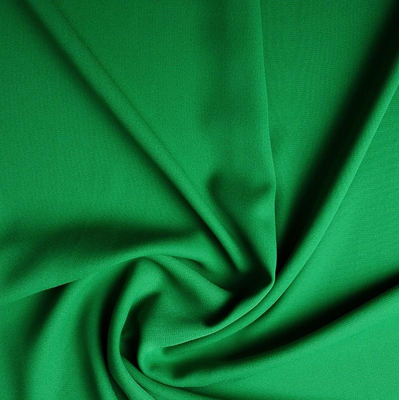 Crepe Georgette - Green - The Fabric Counter