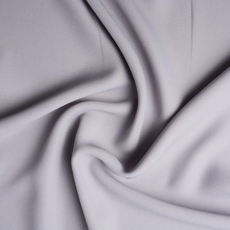 Crepe Georgette - Light Grey - The Fabric Counter