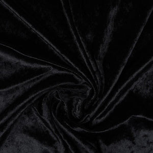 Crushed Velvet Black - The Fabric Counter