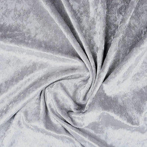 Crushed Velvet Silver - The Fabric Counter