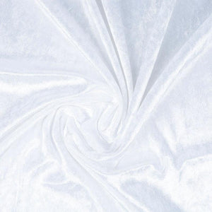 Crushed Velvet White - The Fabric Counter