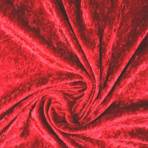 Crushed Velvet Wine - The Fabric Counter