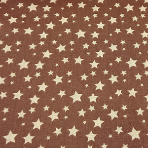 Delta Star Cotton Print - Beige/Brown - The Fabric Counter