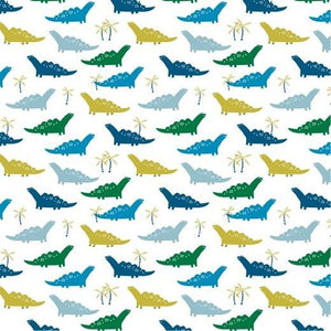 Dinosaur - Cotton Print - The Fabric Counter