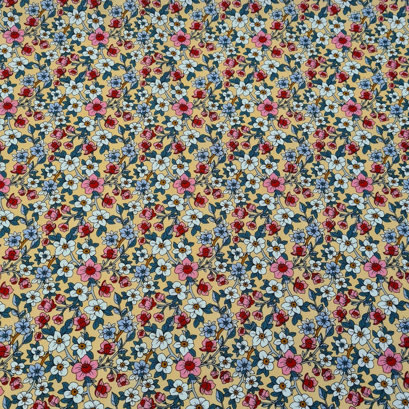 Ditsy Floral Cotton Print - The Fabric Counter