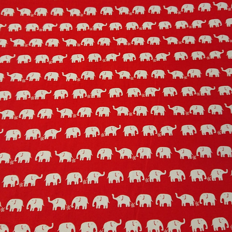 Elephant Cotton Print - The Fabric Counter