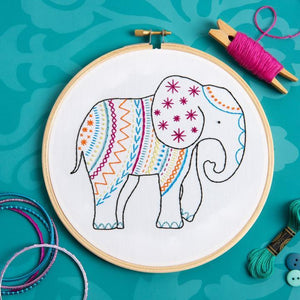 Elephant Embroidery Kit - The Fabric Counter