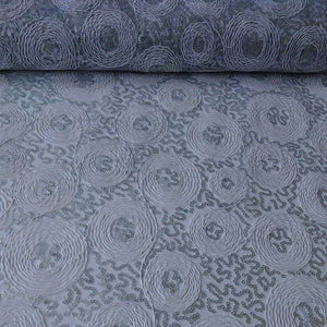 Embroidered Sequin Lace - Silver - The Fabric Counter