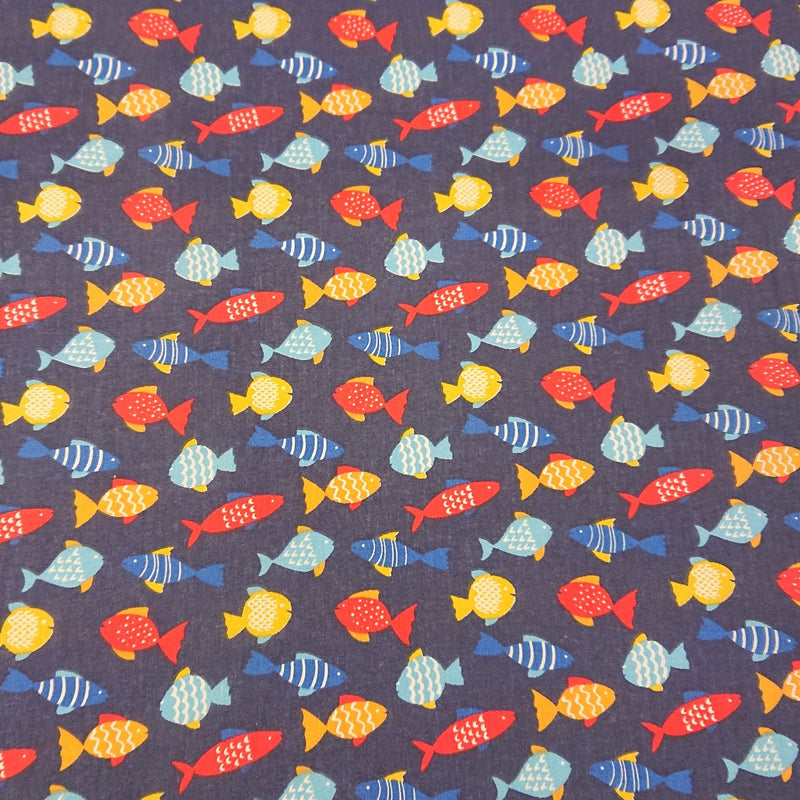 Fish Polycotton - The Fabric Counter