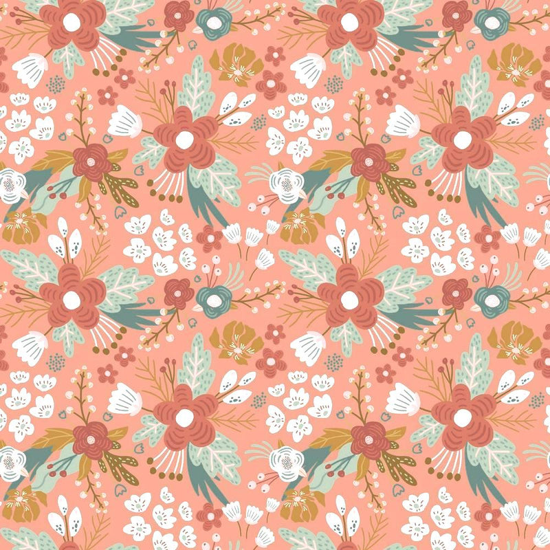 Floral - GOTS Organic Cotton Jersey - The Fabric Counter