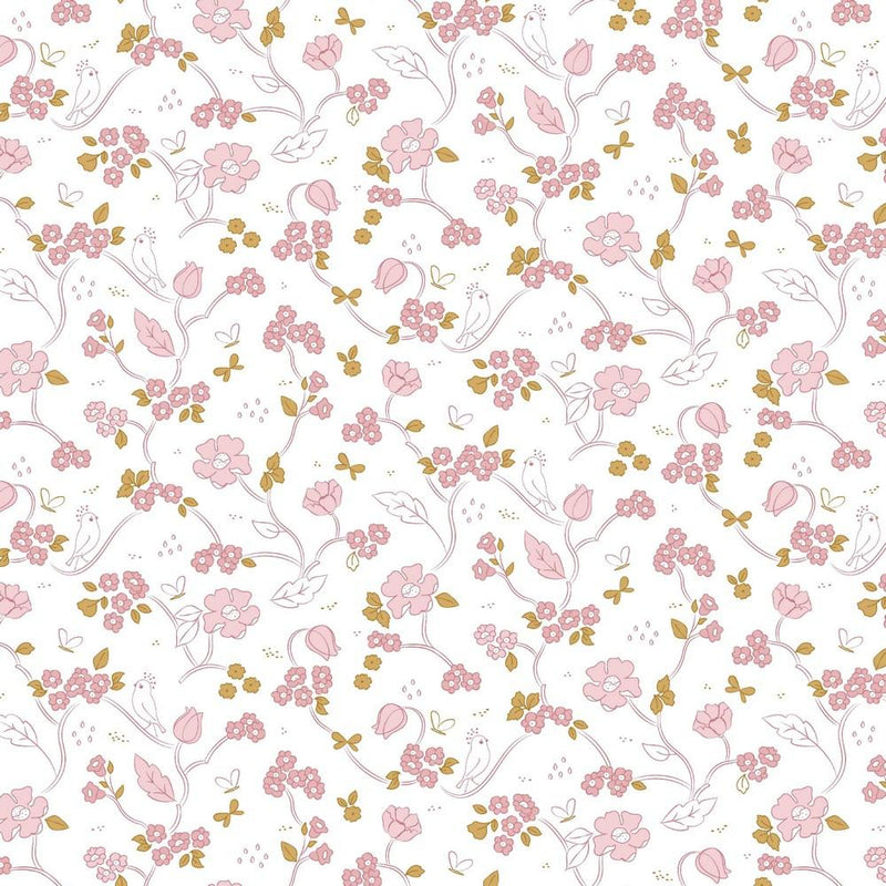 Floral - GOTS Organic Cotton Print - The Fabric Counter