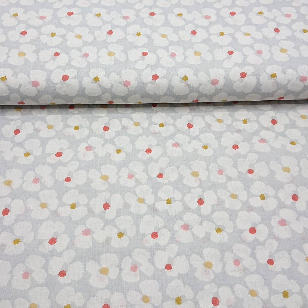 Flower Print Cotton - The Fabric Counter