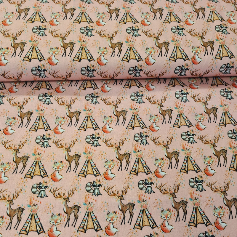 Forest Animal Digital Cotton Print - The Fabric Counter