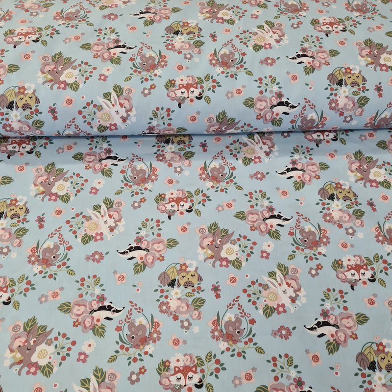 Forrest Animals Cotton Print - The Fabric Counter