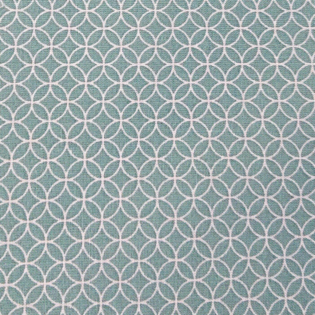 Geometric Cotton Print - Teal - The Fabric Counter