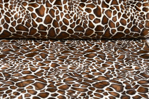 Giraffe Velboa Faux Fur - The Fabric Counter