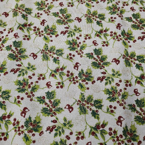 Glitter Holly - Christmas Collection - The Fabric Counter