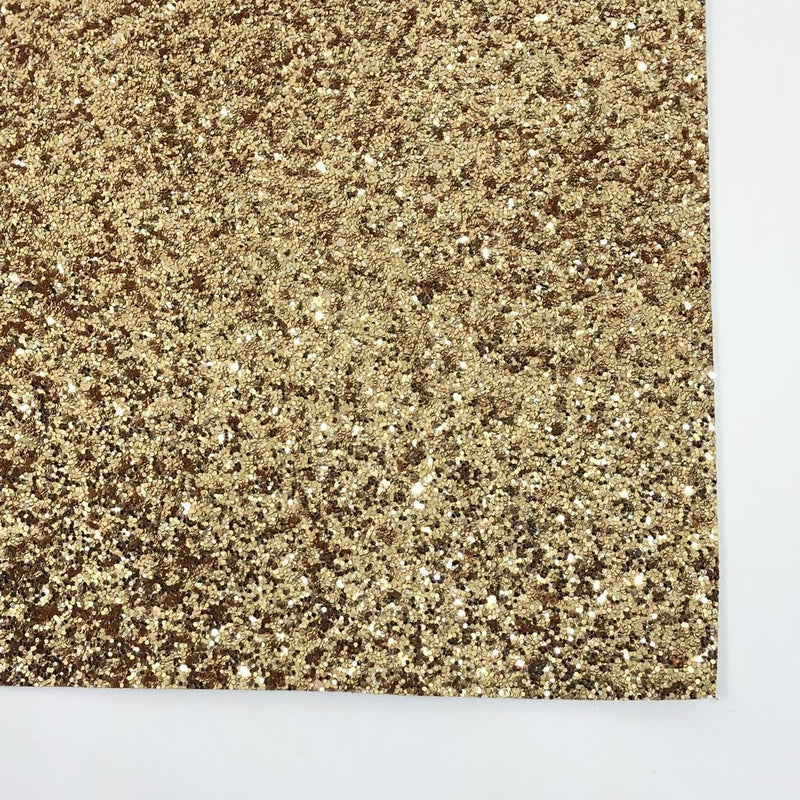 Gold Premium Glitter Canvas (A4 Sheet) - The Fabric Counter