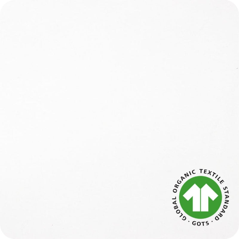 GOTS Organic Cotton Jersey - White - The Fabric Counter