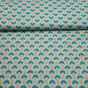 Graphic Flower - Cotton Print - The Fabric Counter