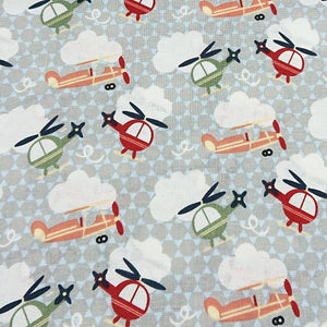 Helicopter Cotton Print - The Fabric Counter