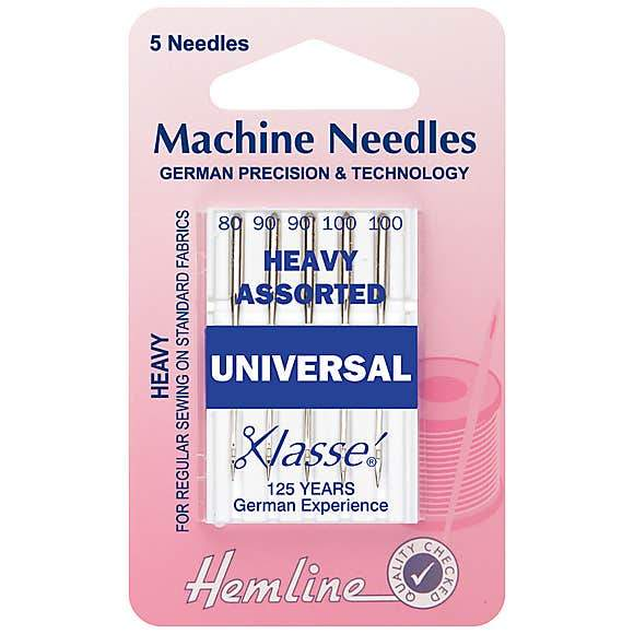 Hemline Machine Needles: Heavy Assorted - The Fabric Counter