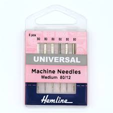 Hemline Machine Needles Universal 80/10 - The Fabric Counter