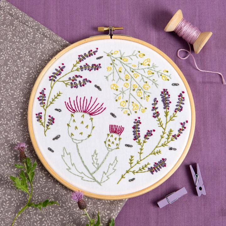 Highland Heathers Embroidery Kit - The Fabric Counter