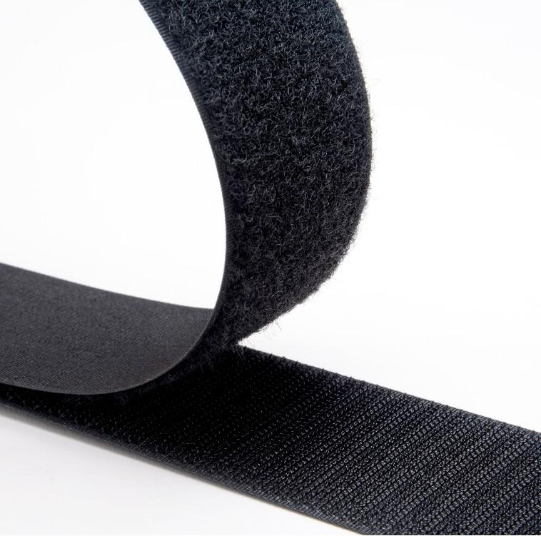 Hook and Loop Tape - Black (Sew On) - The Fabric Counter
