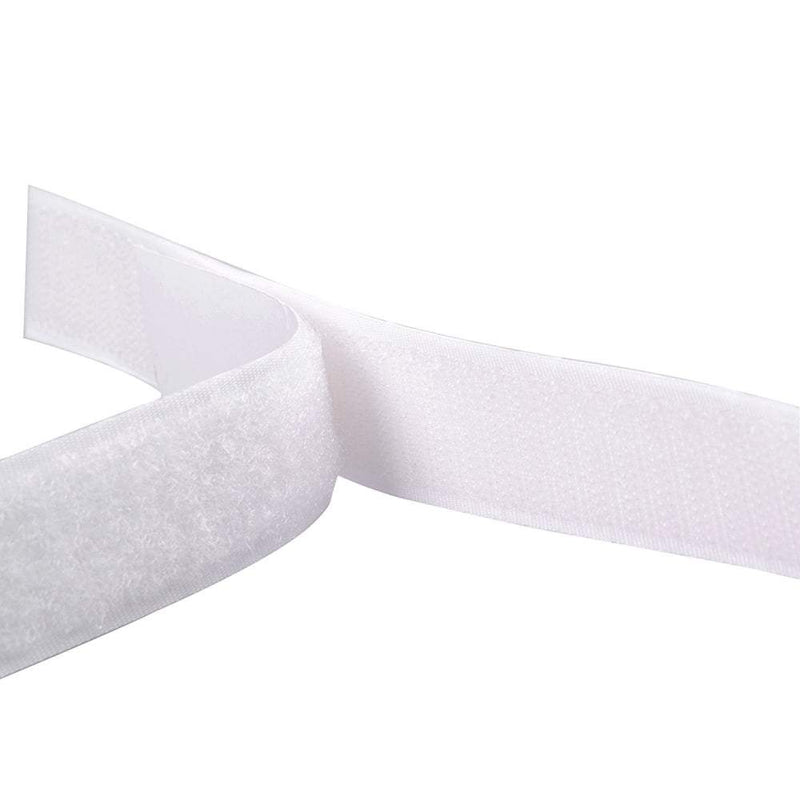 Hook and Loop Tape - White (Sew On) - The Fabric Counter